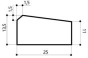 Caniveau béton CS2 larg.25cm haut.13,5cm long.1m - Caniveaux - Matériaux & Construction - GEDIMAT