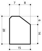 Bordure béton A2 larg.15cm haut.20cm long.1m - Bordures - Matériaux & Construction - GEDIMAT