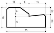 Bordure béton AC1 larg.35cm haut.18cm long.1m - Bordures - Matériaux & Construction - GEDIMAT