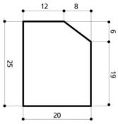 Bordure béton A1 larg.20cm haut.25cm long.1m - Bordures - Matériaux & Construction - GEDIMAT