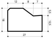 Bordure béton AC2 larg.27cm haut.18cm long.1m - Bordures - Matériaux & Construction - GEDIMAT