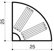 Bordure béton d'îlot directionnel I1 1/4 rond larg.25cm haut.18cm long.25cm - Bordures - Matériaux & Construction - GEDIMAT