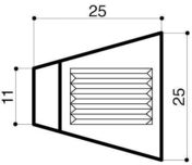 Bordure béton d'îlot directionnel I1 trapèze larg.9/25cm haut.18cm long.25cm - Bordures - Matériaux & Construction - GEDIMAT