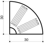 Bordure béton d'îlot directionnel I1 1/4 rond larg.30cm haut.13cm long.25cm - Bordures - Matériaux & Construction - GEDIMAT