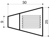 Bordure béton d'îlot directionnel I4 trapèze larg.9/25cm haut.18cm long.30cm - Bordures - Matériaux & Construction - GEDIMAT