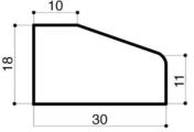 Bordure béton d'îlot directionnel I4 larg.30cm haut.18cm long.60cm - Bordures - Matériaux & Construction - GEDIMAT
