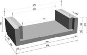 Caniveau béton de descente d'eau en U type 2 larg.80cm haut.21cm long.40cm - Caniveaux - Matériaux & Construction - GEDIMAT