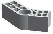 Bloc béton de chaînage vertical multi-angle rectifié PLANIBLOC ép.20cm haut.25cm long.53cm - Poutre en béton précontrainte LBI larg.20cm haut.50cm long.3,90m - Gedimat.fr