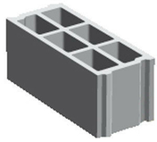 Bloc b�ton creux PLANIBLOC NF B40 �p.10cm haut.20cm long.50cm  - Feutre g�otextile BIDIM GREEN 8 larg.1m long.25m - Gedimat.fr