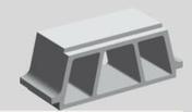 Entrevous béton TCI ép.16cm larg.53cm long.19cm - Poussoir simple à voyant série PERFECT 6A coloris blanc mat sous film de 1 pièce - Gedimat.fr