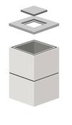 Elément de regard béton TP carré dim.int.80x80cm sans échelon haut.30cm - Tuile terre cuite SIGNY coloris chaume vieilli - Gedimat.fr