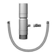 Récupérateur d'eau à raccord universel zinc naturel diam.80mm haut.40cm - Récupération d'eau de pluie - Couverture & Bardage - GEDIMAT