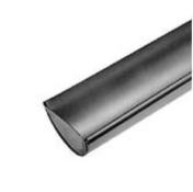 Départ droit de gouttière demi-ronde de 33cm zinc naturel - Listel carrelage pour mur en faïence TRAMA larg.6,5cm long.25cm coloris azurro - Gedimat.fr