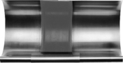 Elément de dilatation avec baguette boudin 14mm zinc naturel développé 33,3cm - About de rive Shed droit pour tuiles TERREAL coloris brun rustique - Gedimat.fr