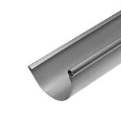 Gouttière demi-ronde avec pince zinc naturel développé 25cm long.4m - Angle extérieur équerre 90° zinc naturel pour gouttière demi-ronde développé 25cm - Gedimat.fr