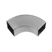 Coude carré 100x100mm zinc naturel soudé angle 72° - Gouttières - Descentes - Couverture & Bardage - GEDIMAT