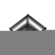 Coude à onglet diam.100mm zinc naturel soudé angle 90° - Gouttières - Descentes - Couverture & Bardage - GEDIMAT