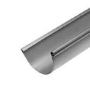 Gouttière LYONNAISE boudin 18mm avec pince zinc naturel ép.0,80mm développé 400mm long.4m - Cuvette de branchement traditionnelle (jambon) zinc naturel diam.100mm - Gedimat.fr