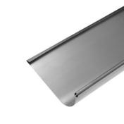 Gouttière HAVRAISE avec pince zinc naturel ép.0,65mm développé 33,3cm long.4m - Tuile châtière pour tuiles plates 17x27 coloris pourpre - Gedimat.fr