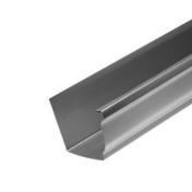 Gouttière moulurée zinc naturel développé 33,3cm long.4m - Tuile à douille CANAL MIDI diam.100mm coloris rouge - Gedimat.fr