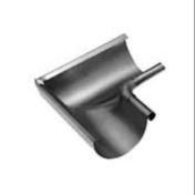 Equerre emboutie sans pince intérieure boudin 18mm zinc naturel développé 333mm - Gouttières - Descentes - Couverture & Bardage - GEDIMAT