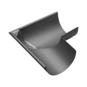 Angle extérieur équerre 90° zinc naturel pour gouttière demi-ronde développé 33,3cm - About de rive Shed droit pour tuiles TERREAL coloris brun rustique - Gedimat.fr