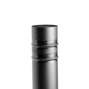 Tuyau de descente tronconnique Zimo soudure étain zinc naturel diam.100mm ép.0,65mm long.2m - Porte d'entrée Aluminium WYOMING avec isolation totale de 140mm droite poussant haut.2,00m larg.90cm laqué gris - Gedimat.fr