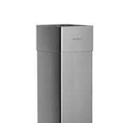 Tuyau de descente carré manchonné zinc naturel diam.80mm ép.0,65mm long.2m - Angle extérieur équerre 90° zinc naturel pour gouttière demi-ronde développé 25cm - Gedimat.fr