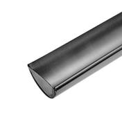 Départ gauche de gouttière demi-ronde de 25cm zinc naturel - Porte d'entrée Aluminium DAKOTA avec isolation totale de 100mm droite poussant haut.2,15m larg.90cm laqué gris - Gedimat.fr