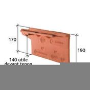 Rive individuelle droite à emboîtement BEAUVOISE coloris flammé rustique - Poutre VULCAIN section 25x40 cm long.6,00m pour portée utile de 5,1 à 5,60m - Gedimat.fr