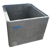 Rehausse béton RH40 avec emboitement int.40x40x34cm ext.47x47x34 - Doublage isolant plâtre + polystyrène PREGYSTYRENE TH32 ép.10+120mm larg.1,20m long.2,50m - Gedimat.fr