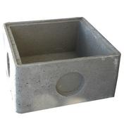 Regard béton RM50 avec emboitement int.50x50x30cm ext.59x59x35 - Porte d'entrée Aluminium GEOD avec isolation totale de 140mm gauche poussant haut.2,00m larg.90cm laqué gris - Gedimat.fr