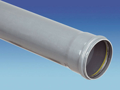 Tube en PVC assainissement CR8 diam.250mm long.3m - Réduction conique de diamètre différent diam.230-200mm - Gedimat.fr