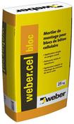 Mortier de montage WEBER.CEL BLOC sac 25 kg - Poutre VULCAIN section 20x20 cm long.4,00m pour portée utile de 3,1 à 3,60m - Gedimat.fr
