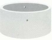 Buse de puits pleine en béton à emboîtement diam.100cm intérieur haut.0,50m - Porte d'entrée NADIA Aluminium laqué avec isolation totale de 120mm droite poussant haut.2,00m larg.90cm gris - Gedimat.fr
