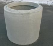 Anneau de puits b�ton plein diam.1,00m haut.50cm - Couvercle de buse b�ton diam.int.1m avec trou de visite diam.50cm - Gedimat.fr