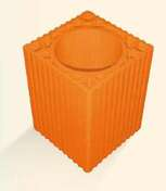 Boisseau de cheminée terre cuite alvéolé diam.int.23cm haut.33cm - Faîtière d'about de fin pour faîtage à glissement TERREAL coloris tabac - Gedimat.fr