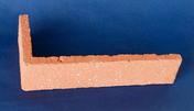 Plaquette d'angle en terre cuite ép.1,4cm long.22cm haut.5cm rouge sablé - Briques et Plaquettes de parement - Revêtement Sols & Murs - GEDIMAT