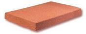Brique foraine pleine en terre cuite ép.5cm larg.20cm long.40cm rouge orangé - Rive à rabat gauche à recouvrement BEAUVOISE coloris flammé rustique - Gedimat.fr