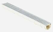 Caniveau domestique en composite MEA EASY 100 haut.9,4cm larg.10cm long.1m avec grille passerelle - Pav�s - Dallages - Mat�riaux & Construction - GEDIMAT