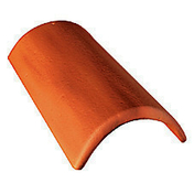 Faîtière/Arêtier de 42 à recouvrement coloris brun - Tuile de rive gauche universelle gauche DOUBLE ROMANE coloris brun - Gedimat.fr