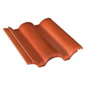 Tuile béton PLEIN CIEL coloris provence - Tuile CANAL LANGUEDOCIENNE à talon pressée coloris castelviel - Gedimat.fr