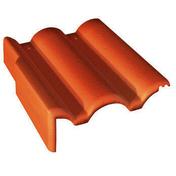 Tuile de rive gauche universelle PLEIN CIEL coloris rouge sienne - Bois Massif Abouté (BMA) Sapin/Epicéa non traité section 45x220 long.12,50m - Gedimat.fr