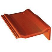 Tuile de rive universelle droite PERSPECTIVE coloris rouge sienne - Fileur droit pour meuble bas four de cuisine ANTHRACITE haut.9,6cm larg.60cm - Gedimat.fr