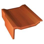 Tuile de rive universelle gauche PERSPECTIVE coloris rouge sienne - Fileur droit pour meuble bas four de cuisine ANTHRACITE haut.9,6cm larg.60cm - Gedimat.fr