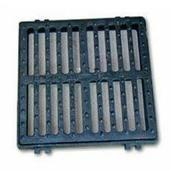 Grille fonte C250 carrée plate avec cadre de 50x50cm - Carrelage pour sol en grès cérame émaillé BYBLOS dim.45x45cm coloris smoke - Gedimat.fr