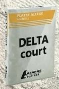 Plâtre manuel allégé DELTA COURT sac de 33kg - Couteau à enduire projeté inox manche contreplaqué 7 plis long.35cm - Gedimat.fr