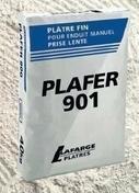 Plâtre manuel traditionnel fin prise lente PLAFER 901 sac de 40kg - Plâtres en poudre - Matériaux & Construction - GEDIMAT