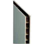 Cloison plaque de plâtre standard PREGYFAYLITE BA50 ép.5cm larg.1,20m long.2,60m - Rive à rabat gauche à recouvrement PANNE H2 HUGUENOT coloris noir brillant - Gedimat.fr