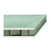 Cloison plaque de plâtre hydrofuge PREGYFAYLITE BA50 ép.5cm larg.1,20m long.2,60m - Lame de terrasse Cumaru ép.21mm larg.145mm long.2,45m - Gedimat.fr
